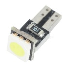 T5 0.2W Car Instrument Lamps Cold White 25lm - Black + Yellow (5PCS)