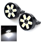T20 0.8W Car Backup / License Plate Lights Cool White 6500K 60lm SMD 5730 (DC 12V / 2 PCS)