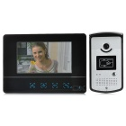 "7"" Color TFT LCD Video Door Phone Kit - Black + Silver (EU Plug)"