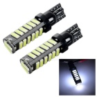 T10 1W Car Brake Lamps / License Plate Lights Cool White 6500K 60lm SMD 7020 (DC 12V / 2 PCS)