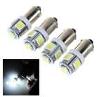 BA9S 0.5W LED Car Backup Light / Steering Lamp White 6000K 18lm 5-SMD 5050 (12V / 4pcs)