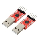 USB to TTL Adapter Board Modules w/ Cables - Red (2 PCS)