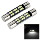 T6.3 31mm 0.2W LED Car Instrument Lamp Cool White 6500K 50lm 6-SMD 4014 (12V / 2PCS)