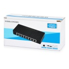 100Mbps Ethernet Network Hub / Switch w/ 8-RJ45 - White