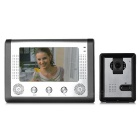 "7"" Color TFT LCD Home Security Video Door Phone Kit - Silvery Grey (EU Plug)"