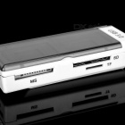 USB 3.0 TF + SD + MS + M2 Card Reader - White + Grey