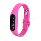 "E06 0.69"" OLED Screen Smart Touch Bracelet - Deep Pink"