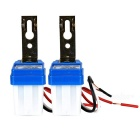 Light-Sensitive Street Road Light Lamp Auto Operated Control Switch - White + Blue (AC 110V / 2pcs)