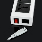 Cwxuan 4-USB Charger w/ 3-Hole Sockets, Switch + US Plugss Cable - White