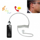 Bluetooth Smart Headset w / Vacuüm Spiraal Kabel In-Oortelefoon - Zwart