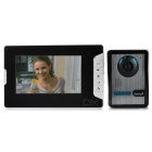 "7"" Color TFT LCD 1-to-2 Home Security Video Door Phone Kit - White + Black (EU Plug)"