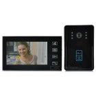 "7"" Color TFT LCD Water-resistant Video Door Phone Kit w/ ID Touch Pad / IR Night Vision - Black"
