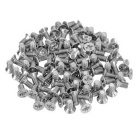 M3x6mm Carbon Steel Flat Cross Head Screw - Silver (100pcs)