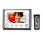 "SY801M11 7"" Color TFT LCD Home Security Video Door Phone Kit - Grey + Silver (EU Plug)"
