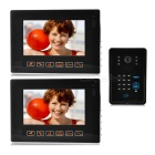 "9"" Color TFT LCD Video Door Phone Kit w/ Remote Control Lock / Touch Pad / IR Night Vision - Black"