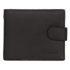 Men's Head Layer Cowhide Leather Folded Wallet w/ Coin Pocket - Coffee