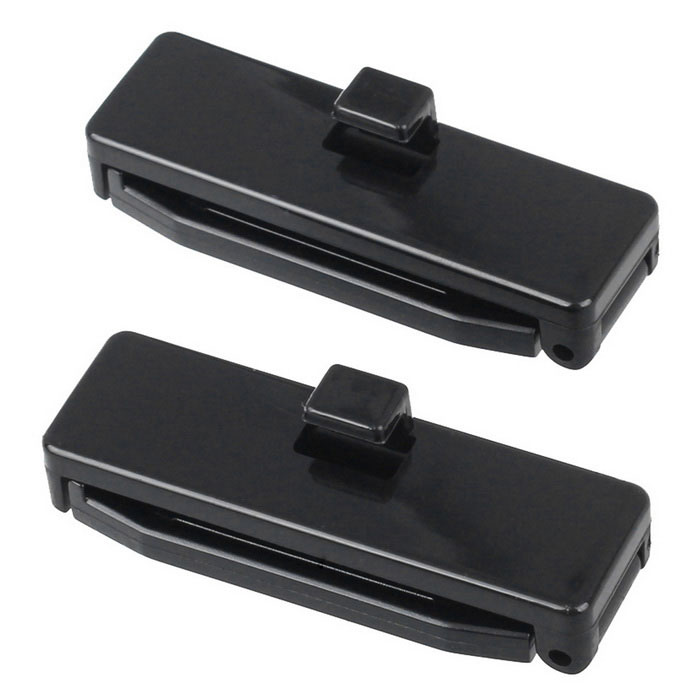 Anti-Slip Car Vehicle Seat Safety Belt Adjuster Clip - Black (2PCS)