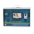"7 ""Color LCD Security Video Door Phone Kit - Preto + Branco (EU Plug)"