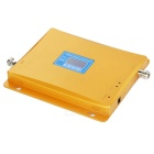 GSM WCDMA Phone Signal Amplifier Booster w/ Dual Frequency Band - Gold