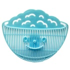 PM-470 Clip-on Design Colanders Smiling Face Kitchen Strainers Drainer - Light Blue