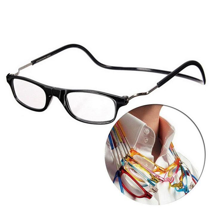 NEJE Folding Magnetic Magnetic 1.0D Reading Presbyopic Glasses - Black