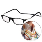 NEJE Unisex Folding Magnetic Magnifying Neck Hanging Reading 1.0D Presbyopic Glasses - Black