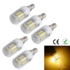 E14 6W 3200K 600lm Warm White 24-SMD LED Corn Light (5PCS/220~240V)