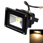 Waterproof 10W 800lm Warm White LED Floodlight - Black (AC 85~265V)