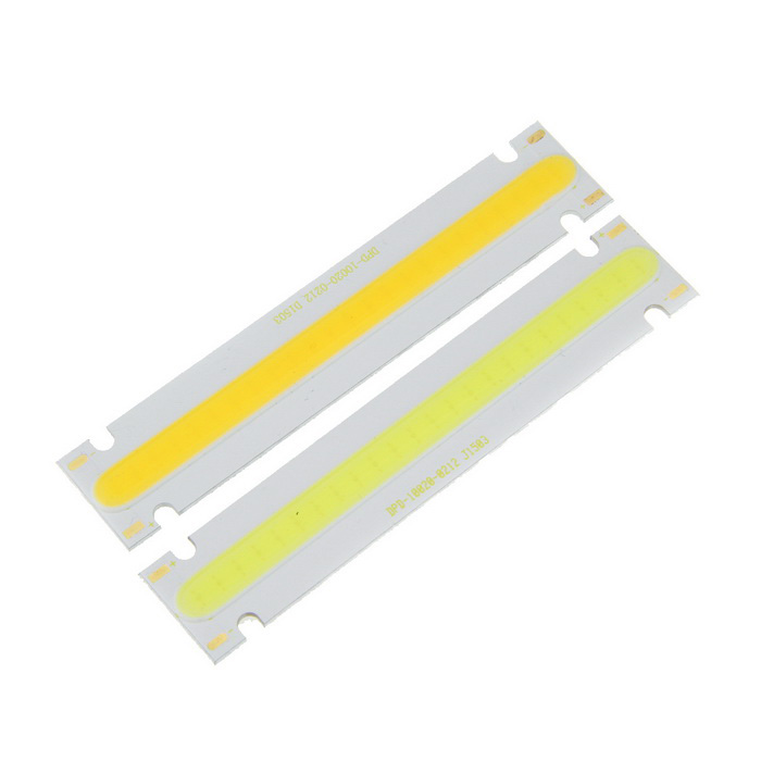5W Valkoinen / Cold White 24-COB LED Strip Boards 500lm - Yellow (2PCS)