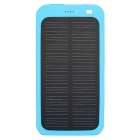 "Universal 5V 1A ""13800mAh"" Li-Polymer Solar Power Bank Charger - Blue"