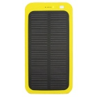 "Universal 5V 1A ""13800mAh"" Li-Polymer Solar Power Bank Charger - Yellow"