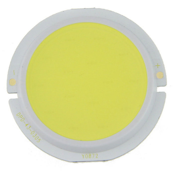 3W Round 15-COB Module Cold White 400lm for Spotlight - Yellow (9~11V)