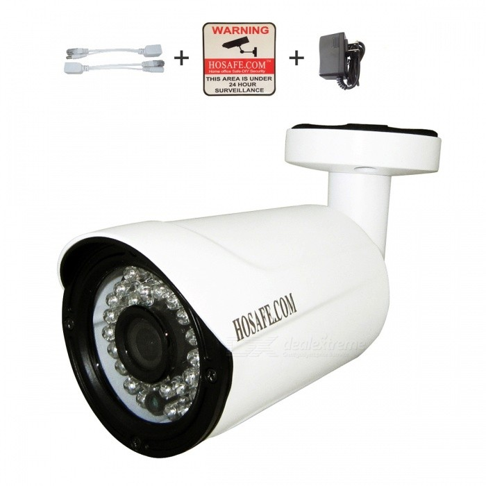 HOSAFE 2MB7W 2.0MP 1080P HD IP Camera w/ 36-IR-LED - White (US Plugs)