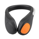 Portable Bike Cycling Sports Shoes Wrist Safety Signal LED Light Clip - Black + Orange (2 x CR2032)