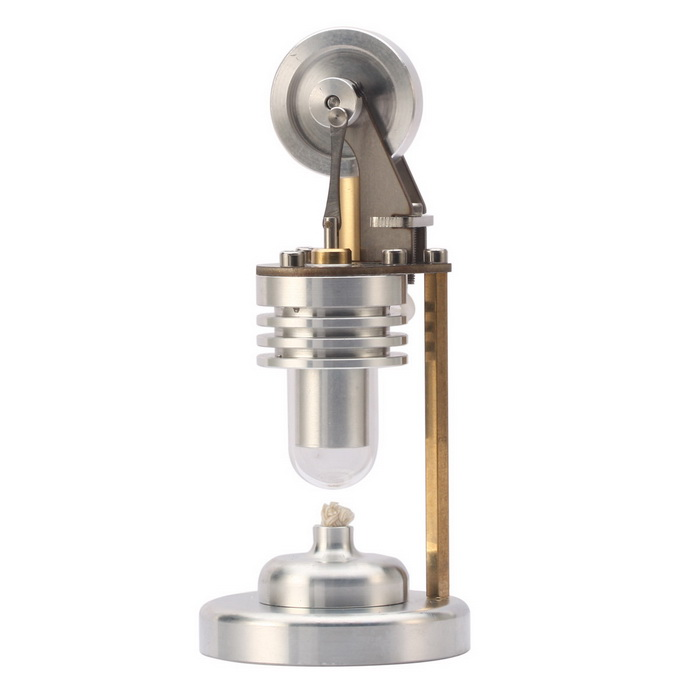 NEJE Mini Live Steam Stirling Engine Model - Silver + Golden