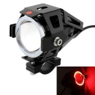 Motorcycle 30W 3000lm 6500K 3-Mode LED Cool White / Red Angel Eye Car Headlight (DC 12~80V)