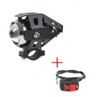 Motorcycle Headlight Spotlight Waterproof Fog Lamp 2000lm 30W White Light w/ Switch (12-80V)