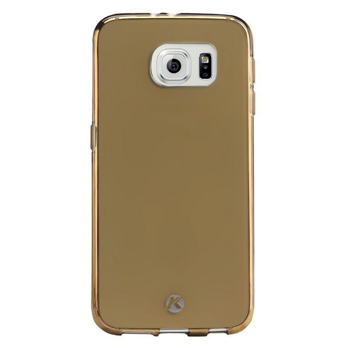 KALAIDENG Air Series TPU Back Case w/ Film for Samsung S6 - Golden