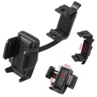 Universal Car Rearview Mirror / Air Conditioner Outlet Mount Holder for GPS / Cellphone - Black