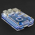Acrylic Rainbow Case Box Shell for Raspberry PI 2 Model B - Transparent + Blue