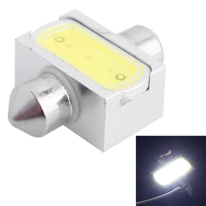 Festoon 31mm 3W Car Reading Lamp White Light 6000K 150lm (DC 12V)Car Interior Lights<br>Color BINWhiteModelN/AQuantity1 DX.PCM.Model.AttributeModel.UnitMaterialAluminumForm ColorSilverEmitter TypeLEDChip BrandOthers,N/AChip TypeLEDTotal Emitters1Power3WColor Temperature6000 DX.PCM.Model.AttributeModel.UnitActual Lumens150 DX.PCM.Model.AttributeModel.UnitRate VoltageDC 12VWaterproof FunctionNoConnector TypeFestoon 31mmApplicationReading lampPacking List1 x Car LED light<br>
