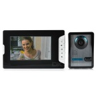 "7"" Color TFT LCD Home Villa Security Video Door Phone Kit w/ Night Vision - Black + White (EU Plug)"