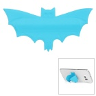 Creational Mini Carton Cool Bat-Shaped U-Type Universal Phone Rubber Stand w/ Sticker - Blue