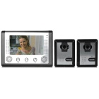 "7"" Color TFT LCD Water-resistant Video Door Phone Kit w/ IR Night Vision - Grey + Silver (EU Plug)"
