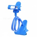 Creative Flexible Neck Clip-on / Desktop Holder Stand for Cell Phone - Light Blue
