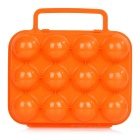 Sunfield Portable PP 12-Cup Egg Storage Container Holder for Camping / Picnic - Orange