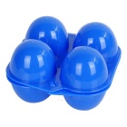 Sunfield Portable PP 4-Cup Egg Storage Container Holder for Camping / Picnic - Blue