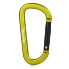 NatureHike Multifuntional Outdoor D-Shaped Aluminum Alloy Carabiner - Yellowish Green