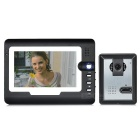 "7 ""Farb-TFT LCD 3-zu-1-Heim Villa Sicherheit Video-Türsprechanlage Kit - Schwarz + Dark Grey (EU-Stecker)"