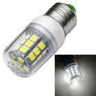 JIAWEN E27 3W LED Corn Lamp Bulb White Light 6500K 350lm 27-SMD 5050 - White (AC 220~240V)